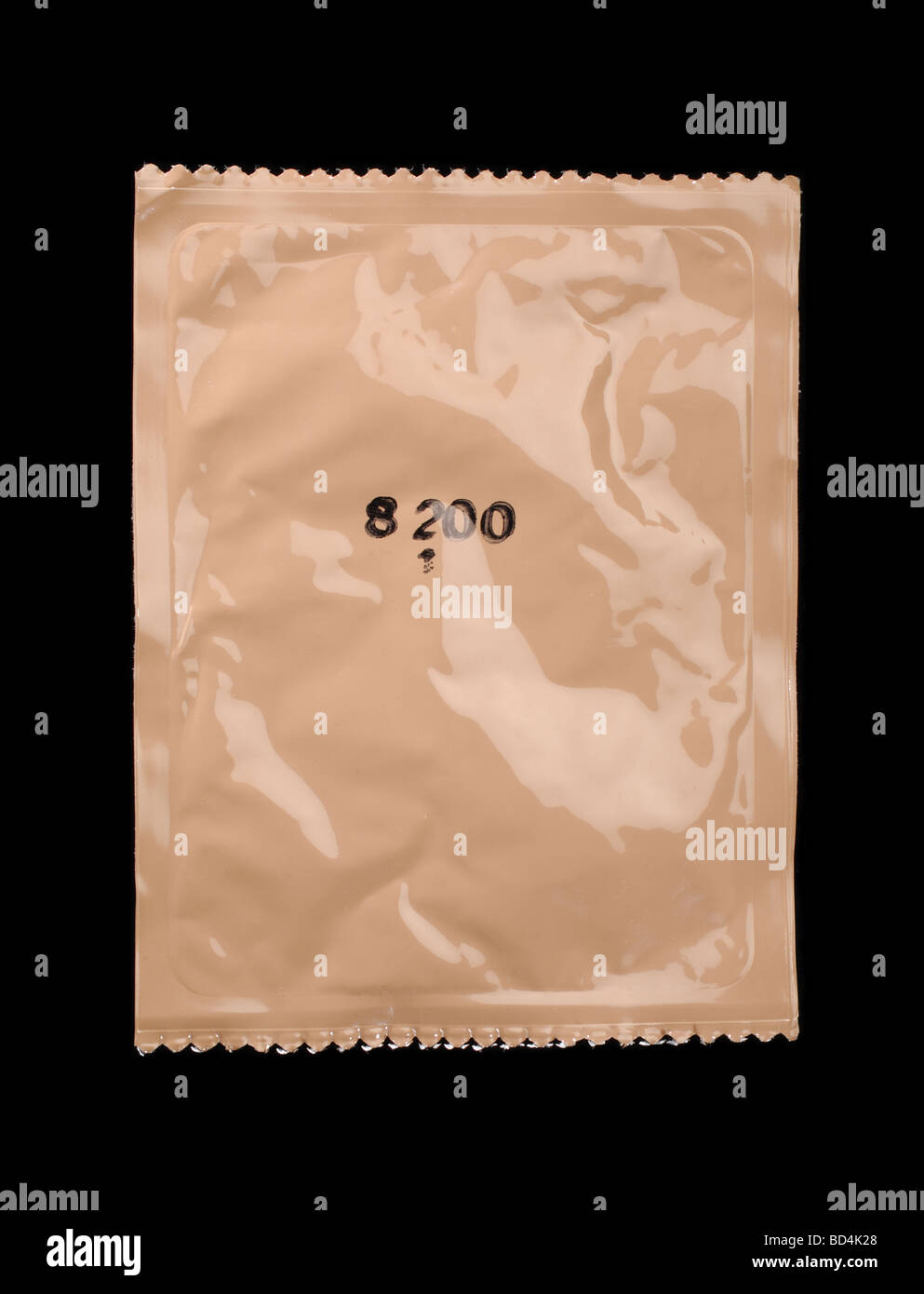 Brown plastic container of Military food rations - Stock Image
