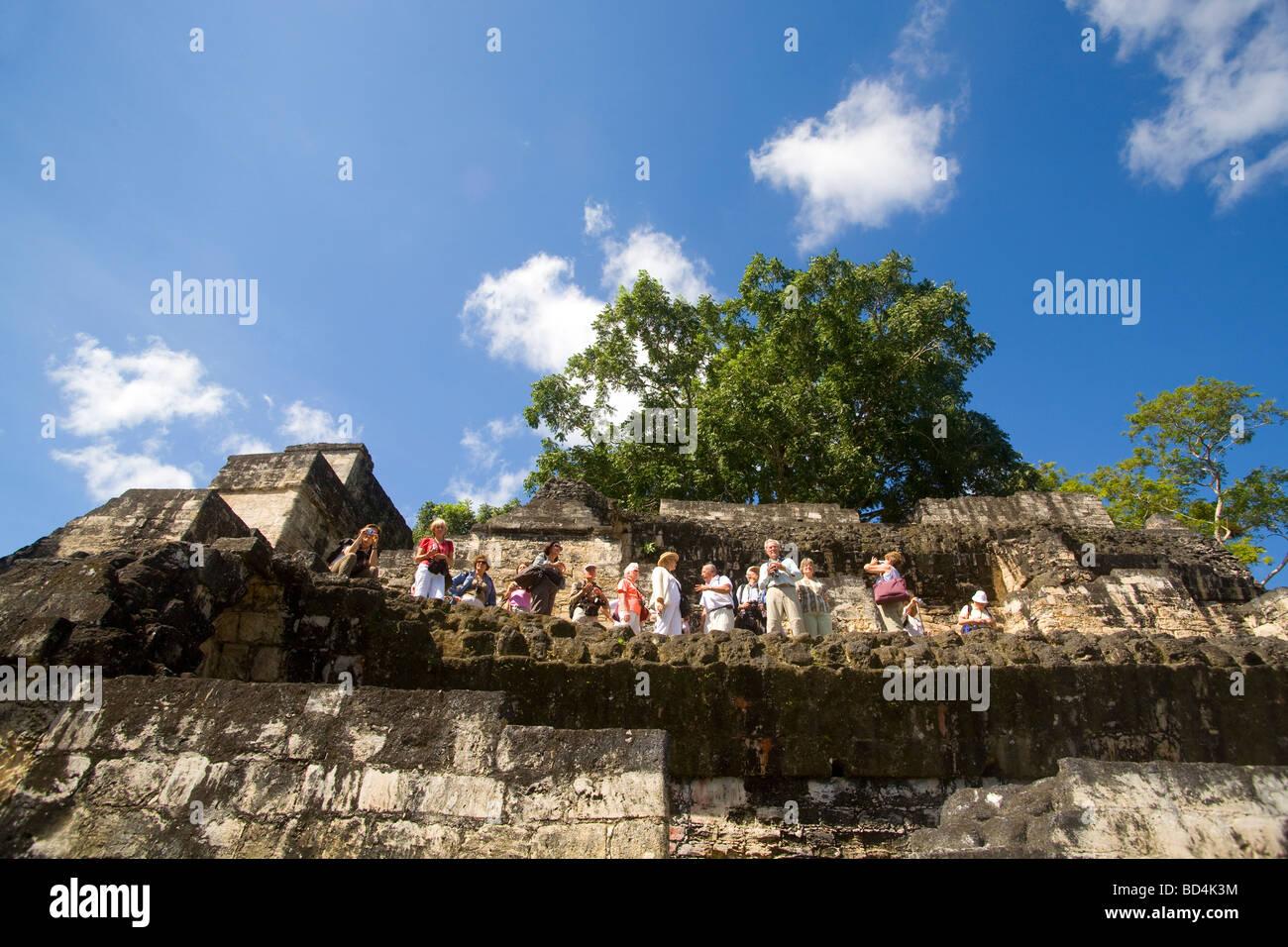 Mayan ruins of Tikal, Guatemala - Stock Image