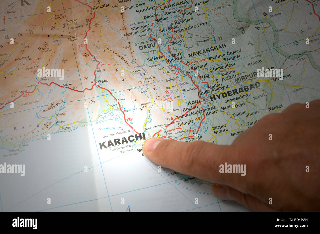 Focus on Pakistan - Stock Image