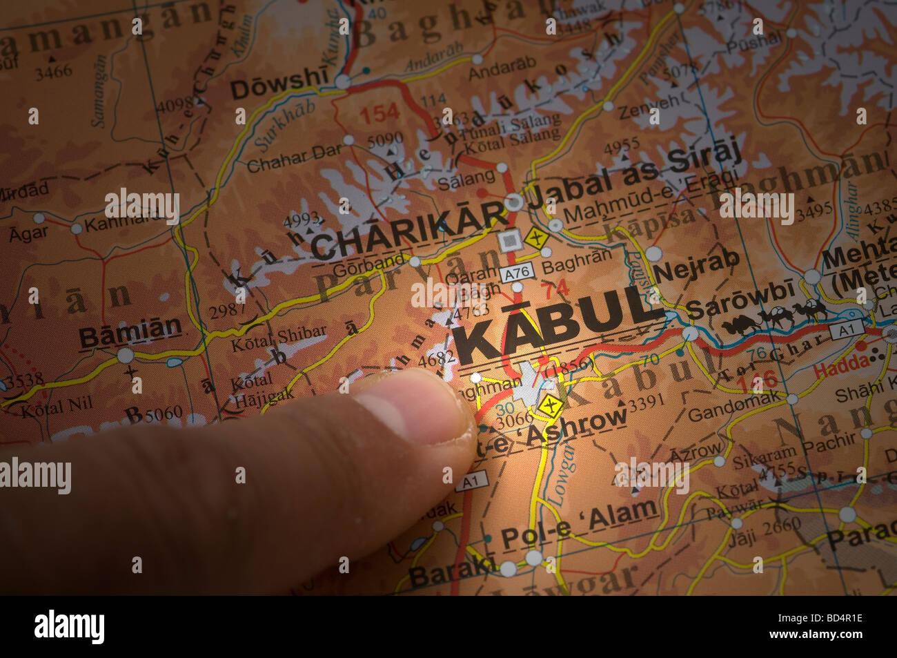 Focus on Kabul,  Afghanistan - Stock Image