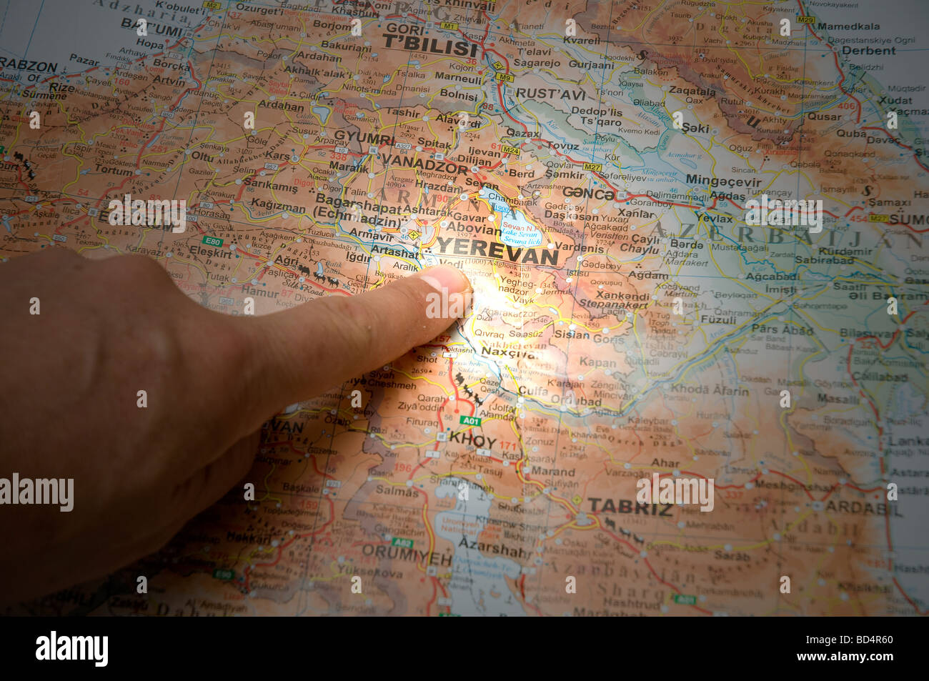 Focus on Yerevan, Armenia - Stock Image