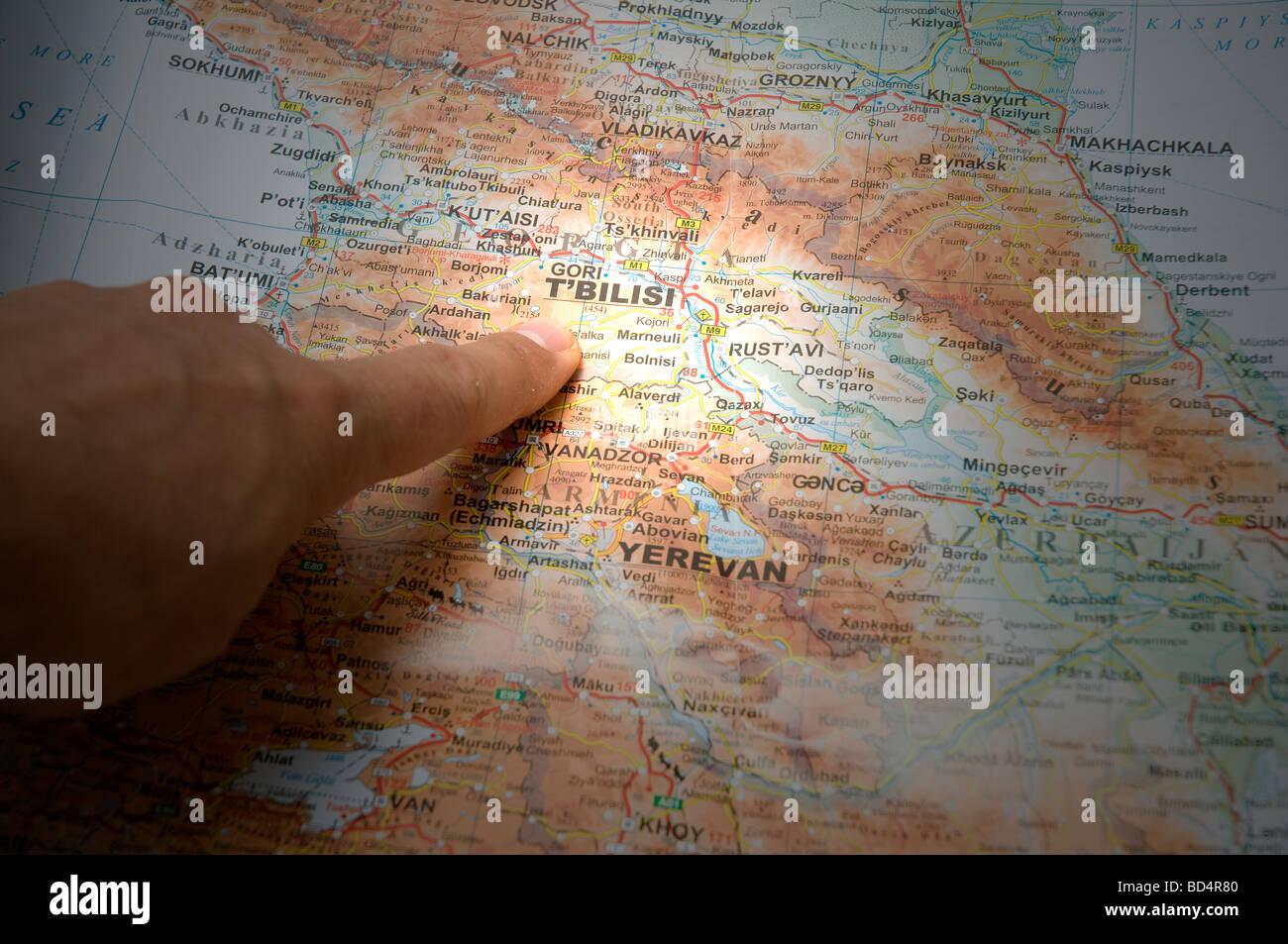 Focus on Tblisi, Georgia - Stock Image