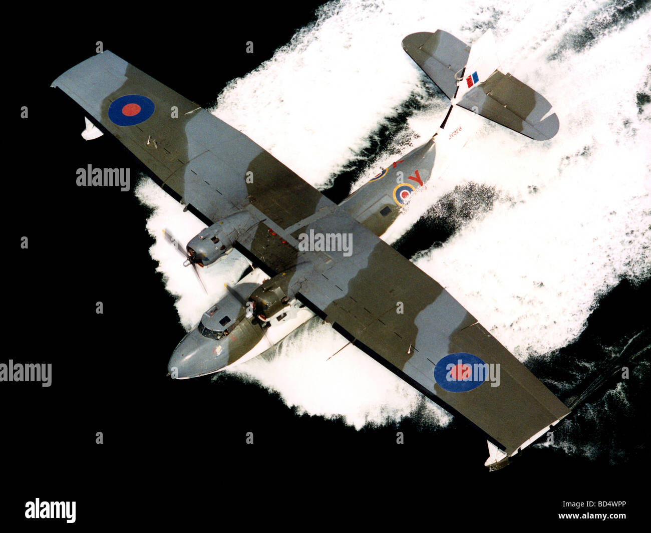 Catalina flying boat painted to represent the aircraft in which Flying Officer Cruickshank RAF won the Victoria - Stock Image