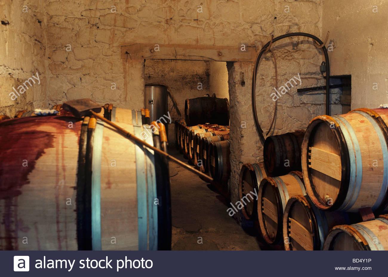 Wine cellar of Château le Pin Pomerol Bordeaux France - Stock Image & Wine Cellar Château Le Pin Stock Photos u0026 Wine Cellar Château Le Pin ...