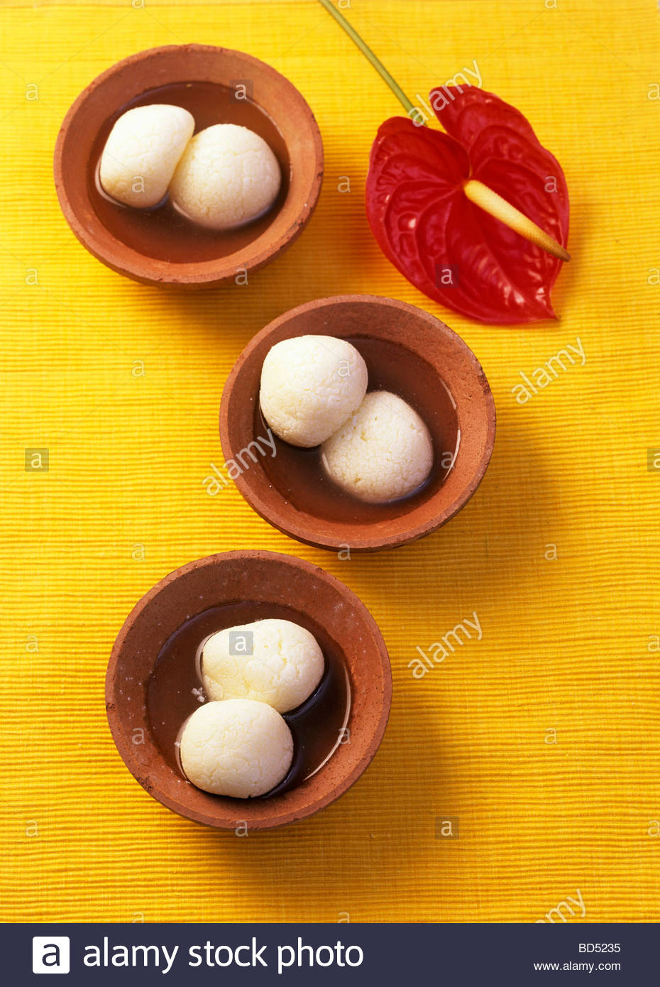 Rasgulla (Sweet cheese balls from India) - Stock Image