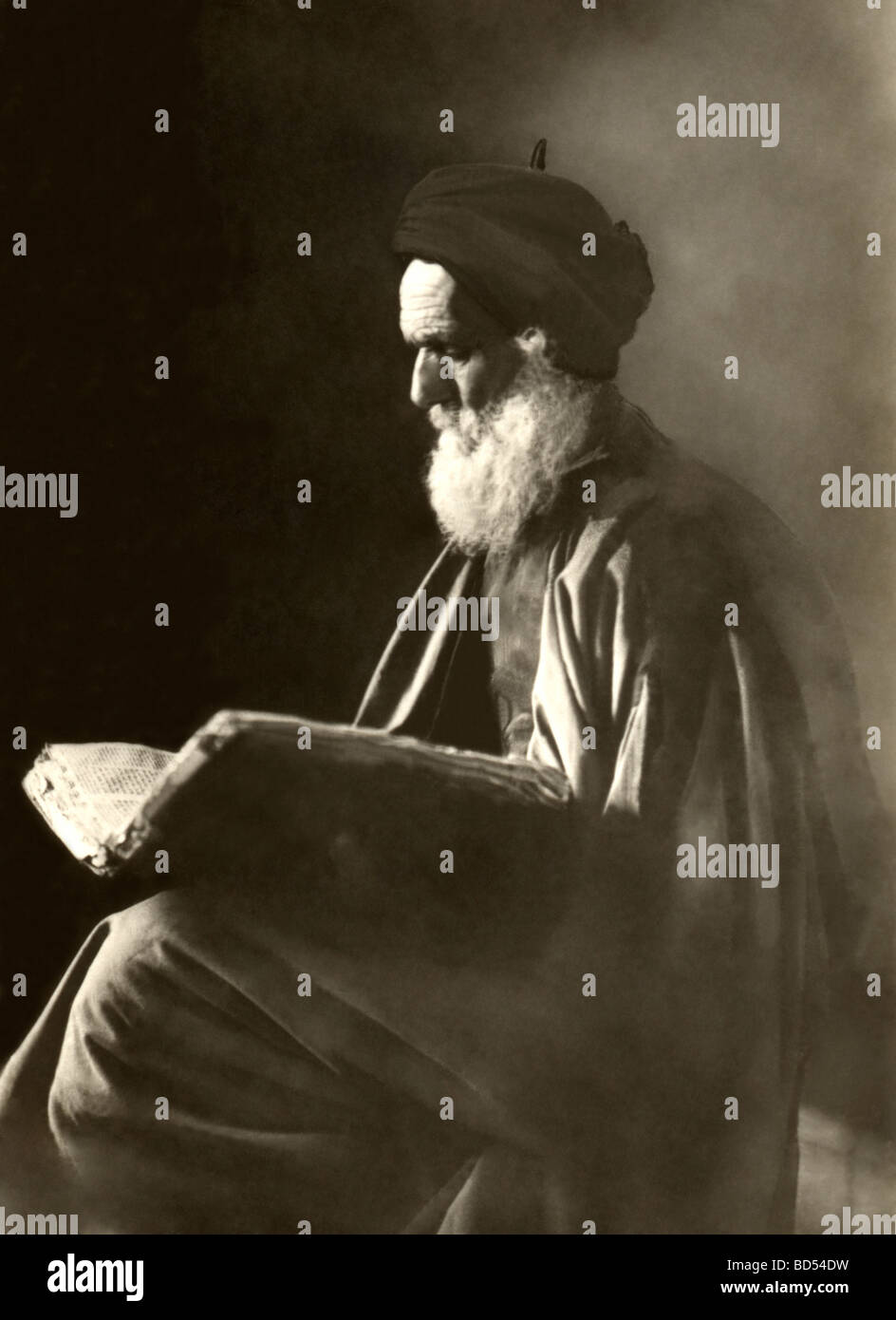 Jewish Man Reading the Talmud Stock Photo