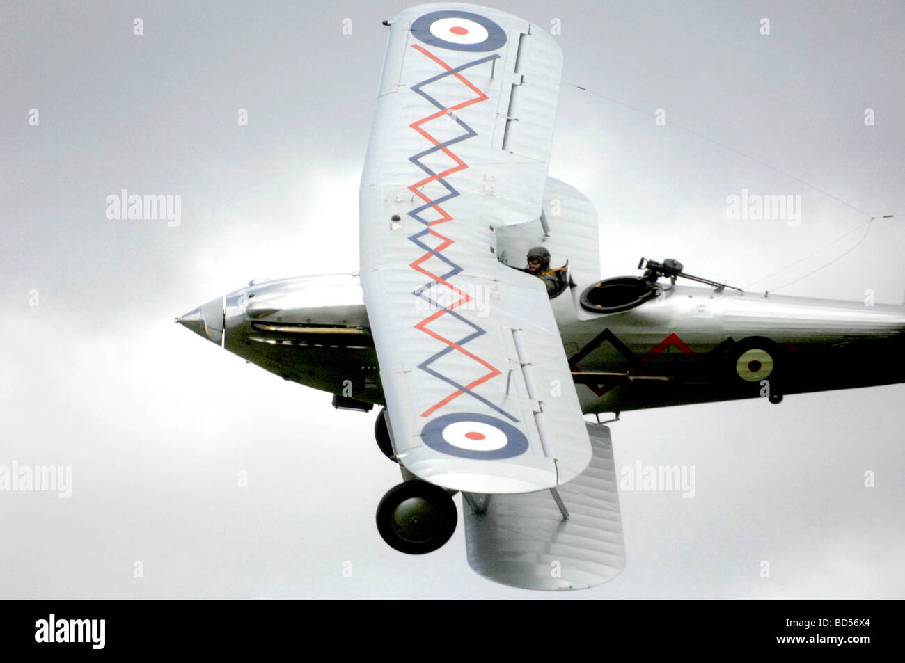 aviation military plane fly air wing hawker demon Stock Photo