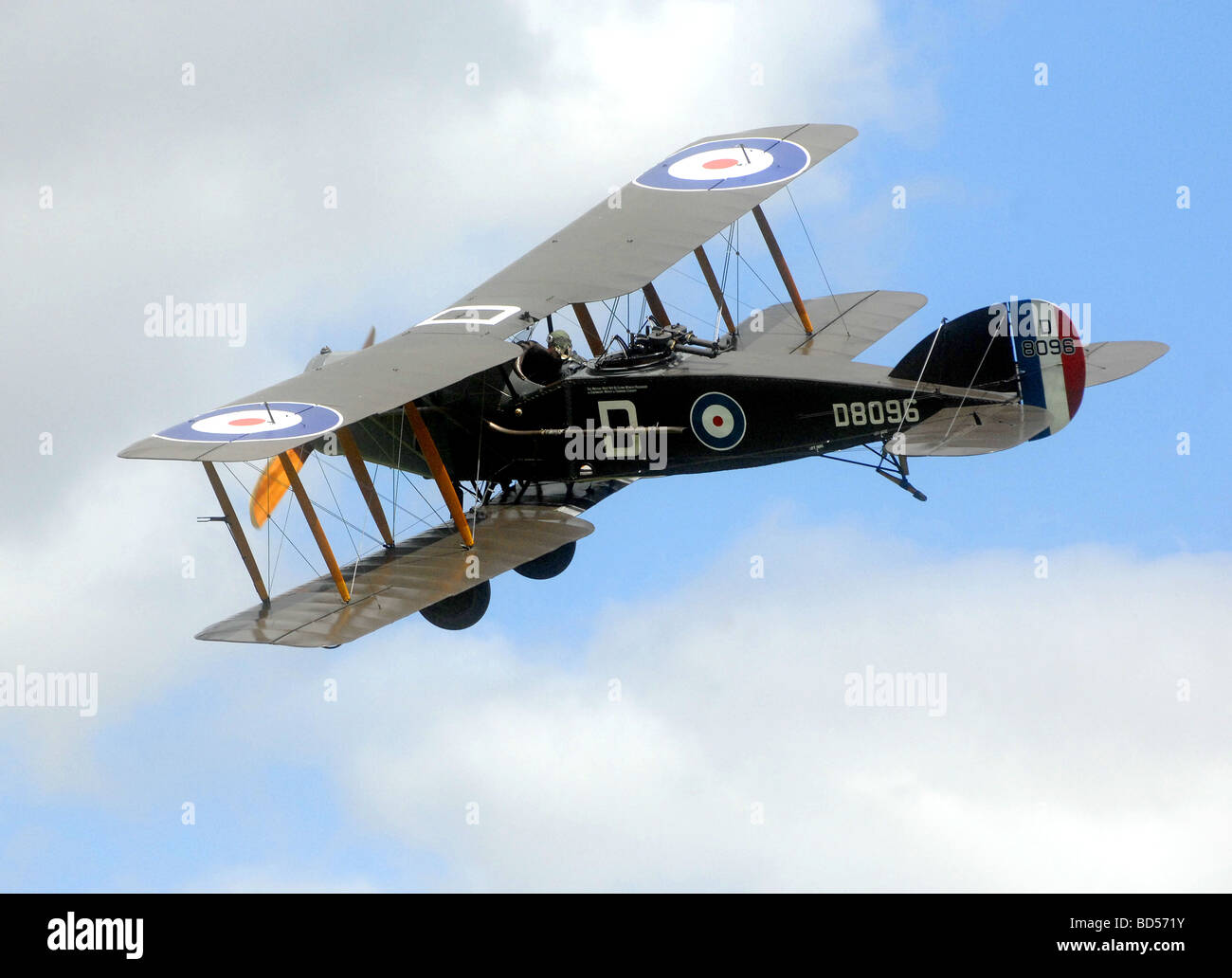 aviation military plane fly air wing bristol fb2 fighter Stock Photo
