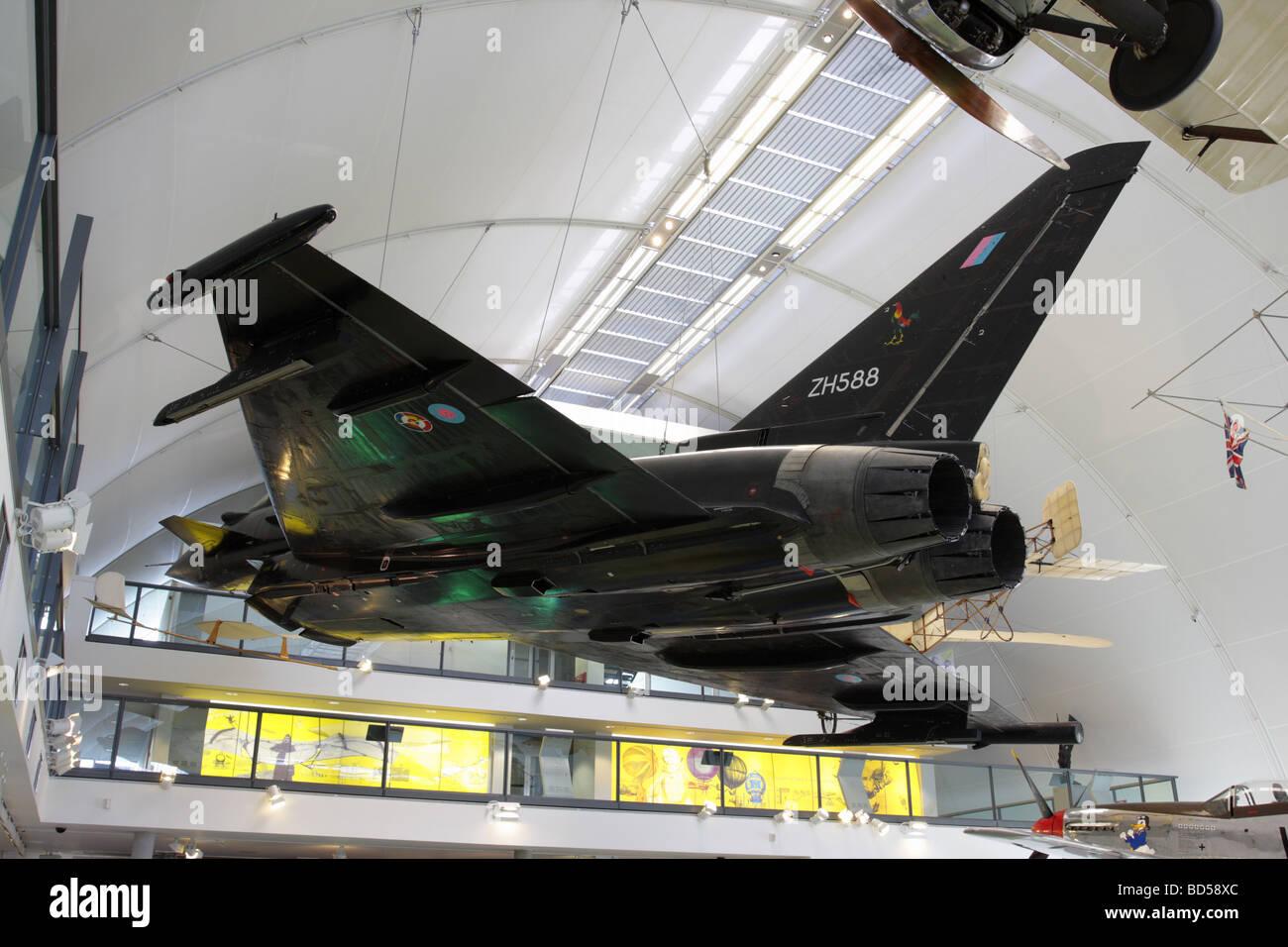 Eurofighter Typhoon prototype currently on display at the Milestones of Flight Exhibition hall at RAF Hendon,London. - Stock Image