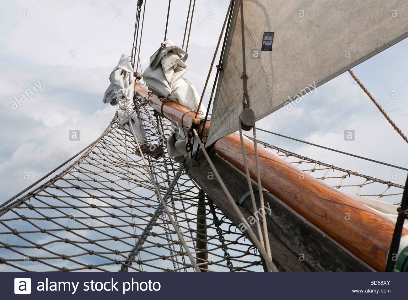 The bow of a sail ship - Stock Image