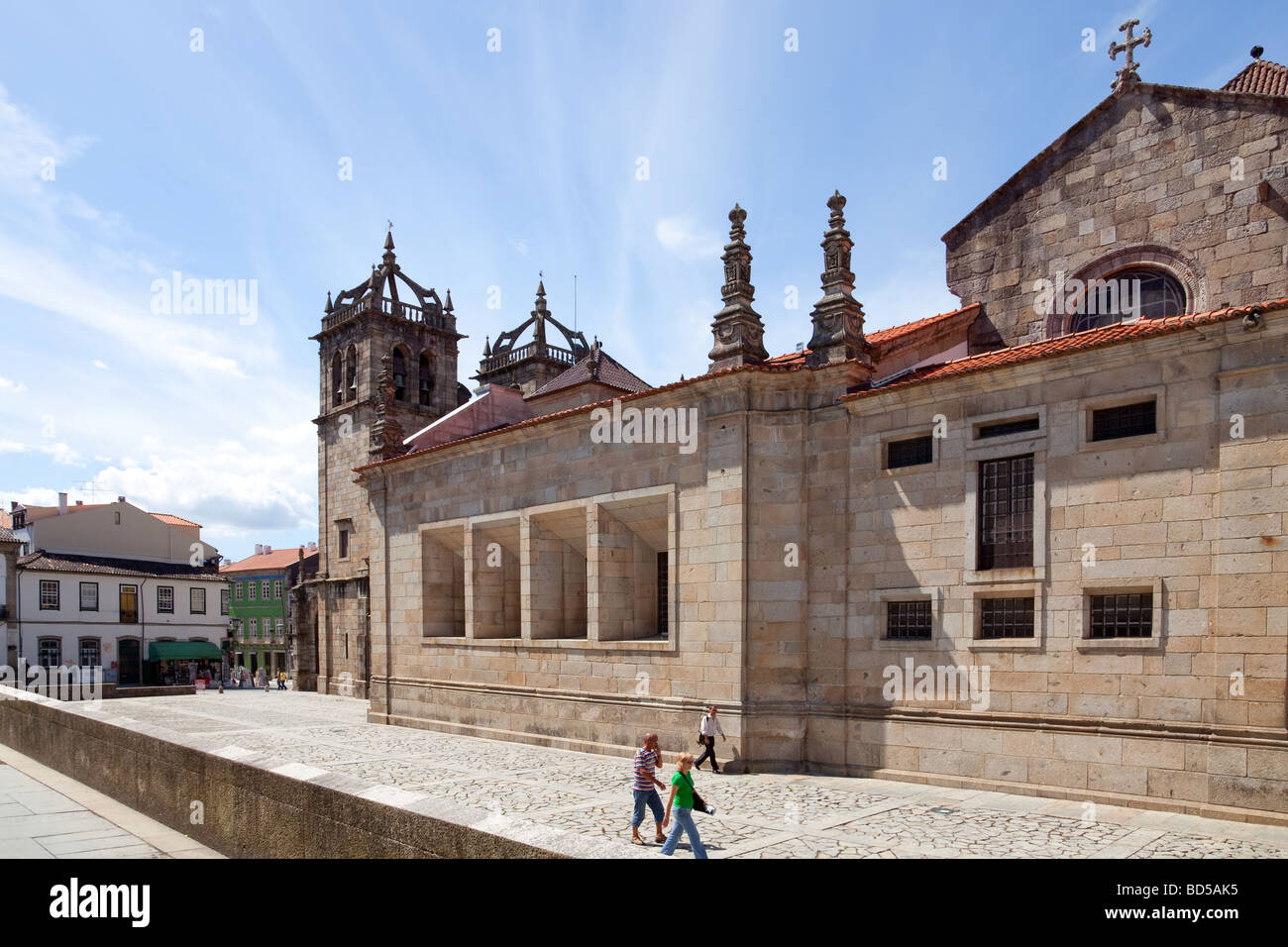 Braga's Cathedral, the most ancient of all cathedrals in Portugal and a main worship place. Stock Photo