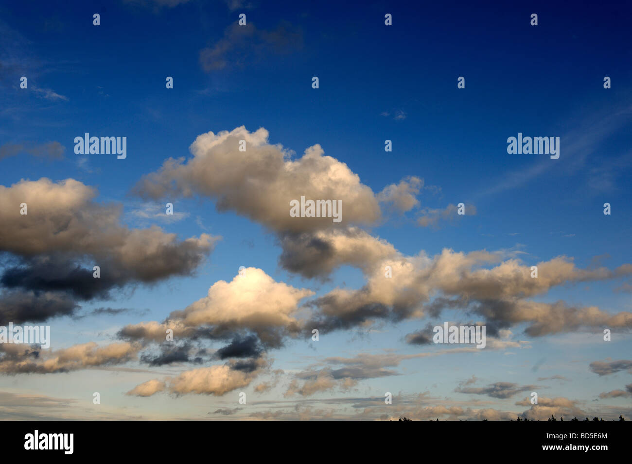 Heap clouds, rain clouds, thunder clouds, gathering thunderstorm - Stock Image
