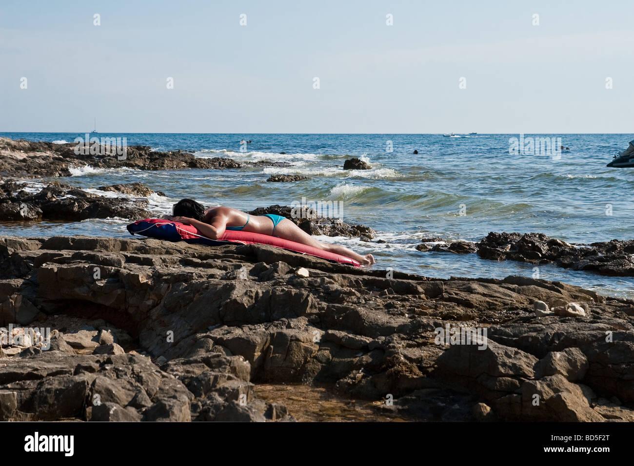 Sea scene off the coast off Istria Croatia - Stock Image