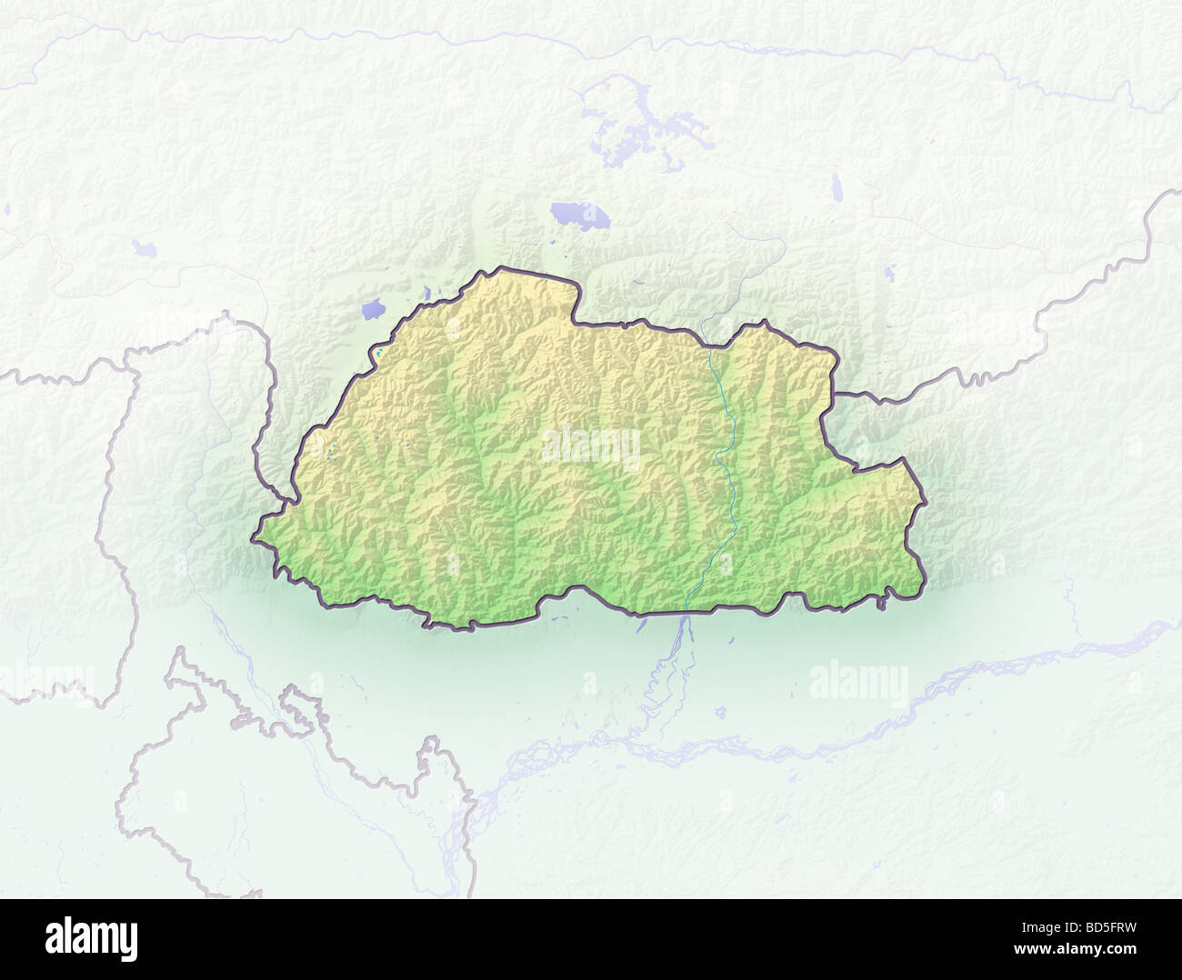Bhutan Map Stock Photos & Bhutan Map Stock Images - Alamy