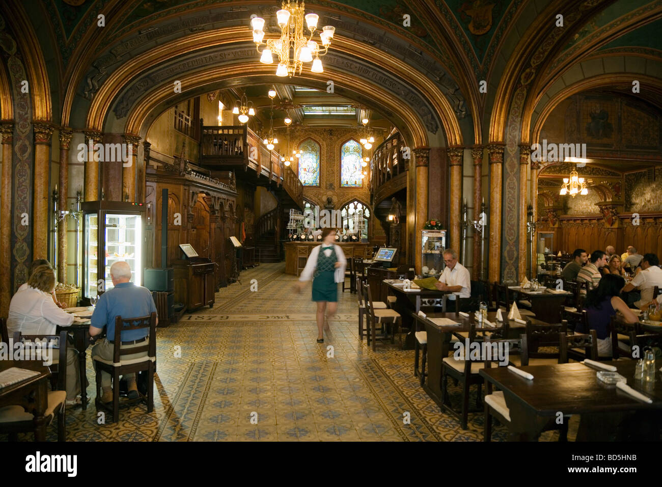 Caru cu Bere The Beer Cart Restaurant Bucharest - Stock Image