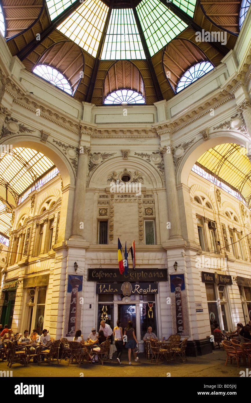 Villacross Passage Bucharest Romania - Stock Image