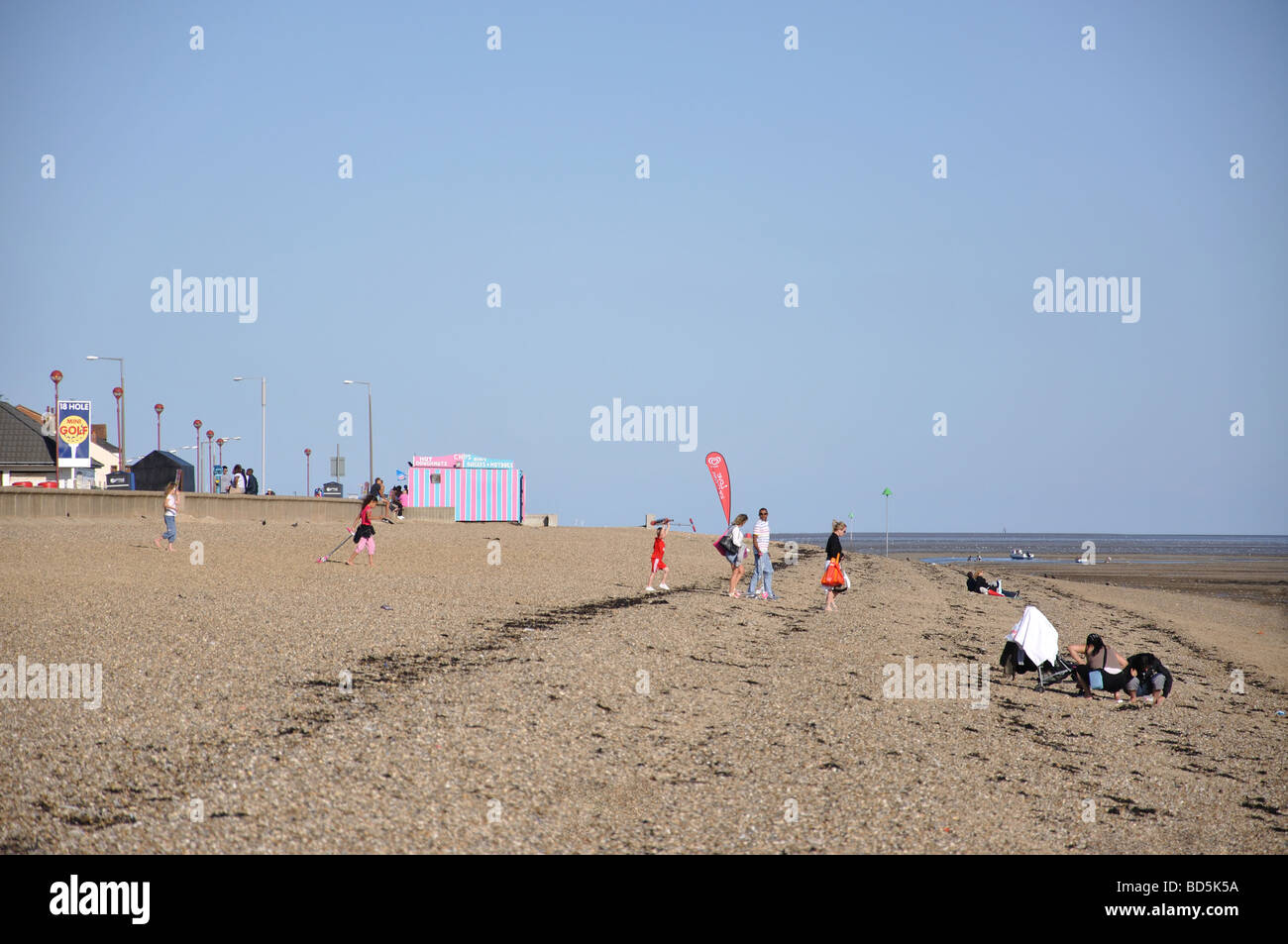 Beach view, Southend-on-Sea, Essex, England, United Kingdom Stock Photo