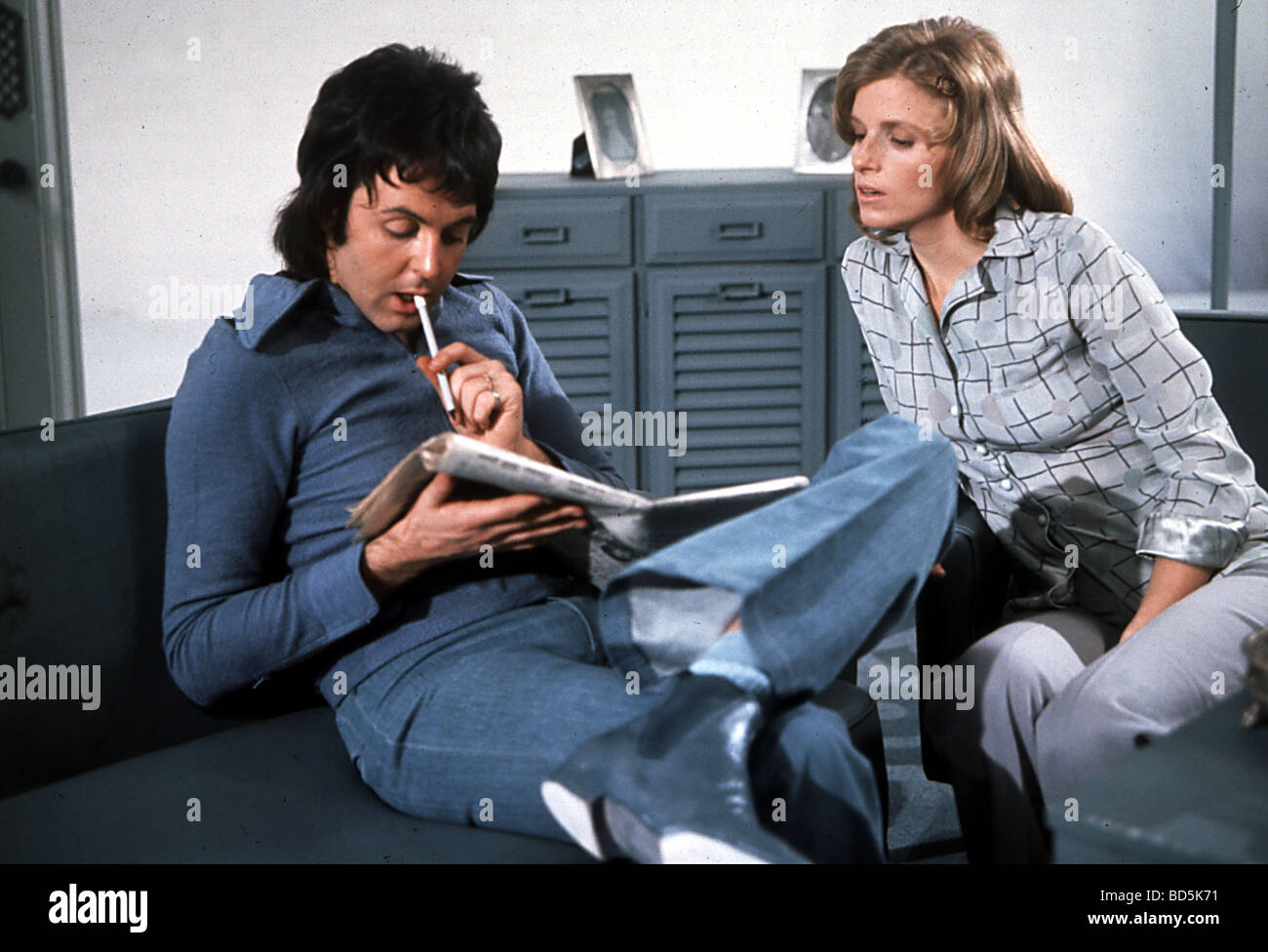 PAUL McCARTNEY And Wife Linda Eastman About 1972