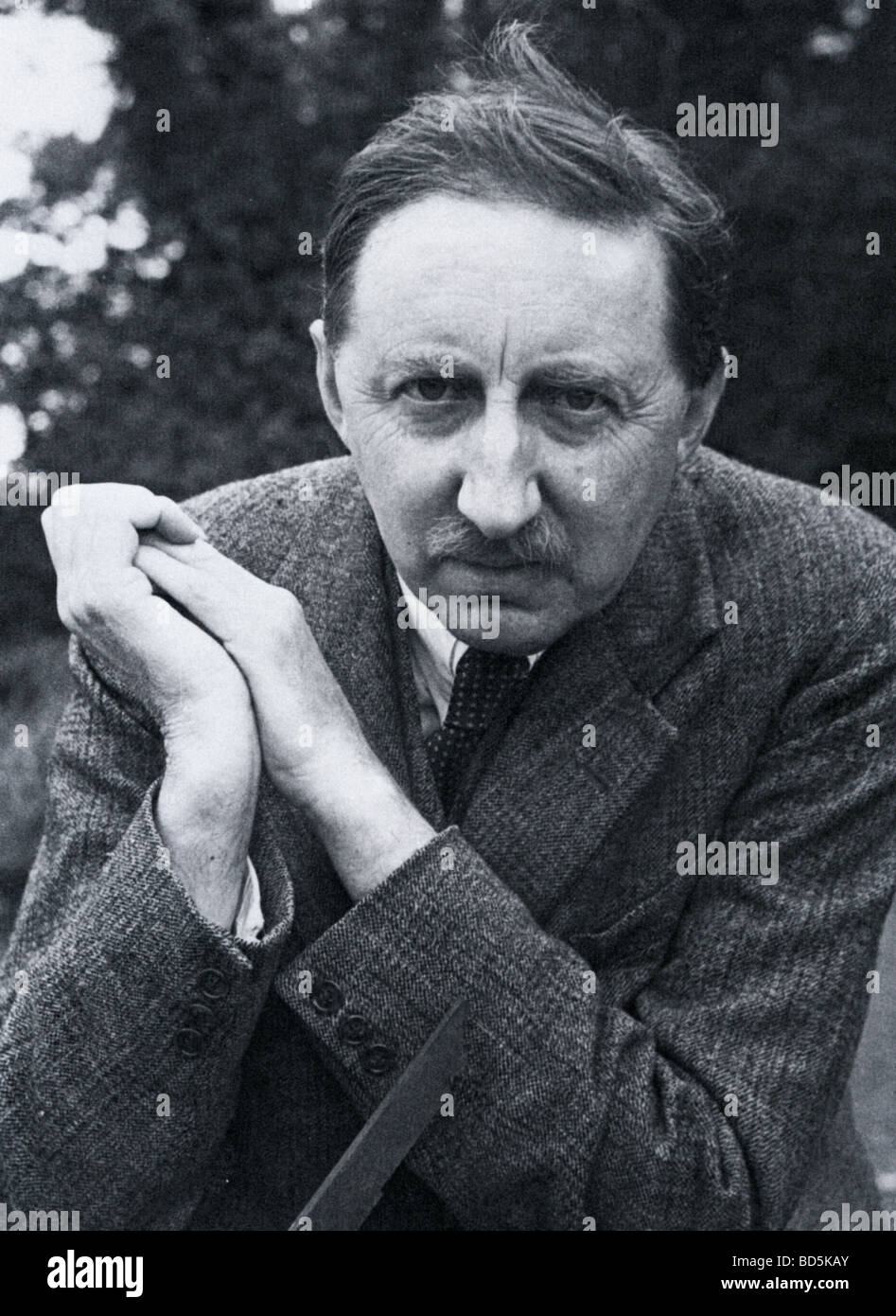 E M FORSTER British novelist in 1938 - Stock Image