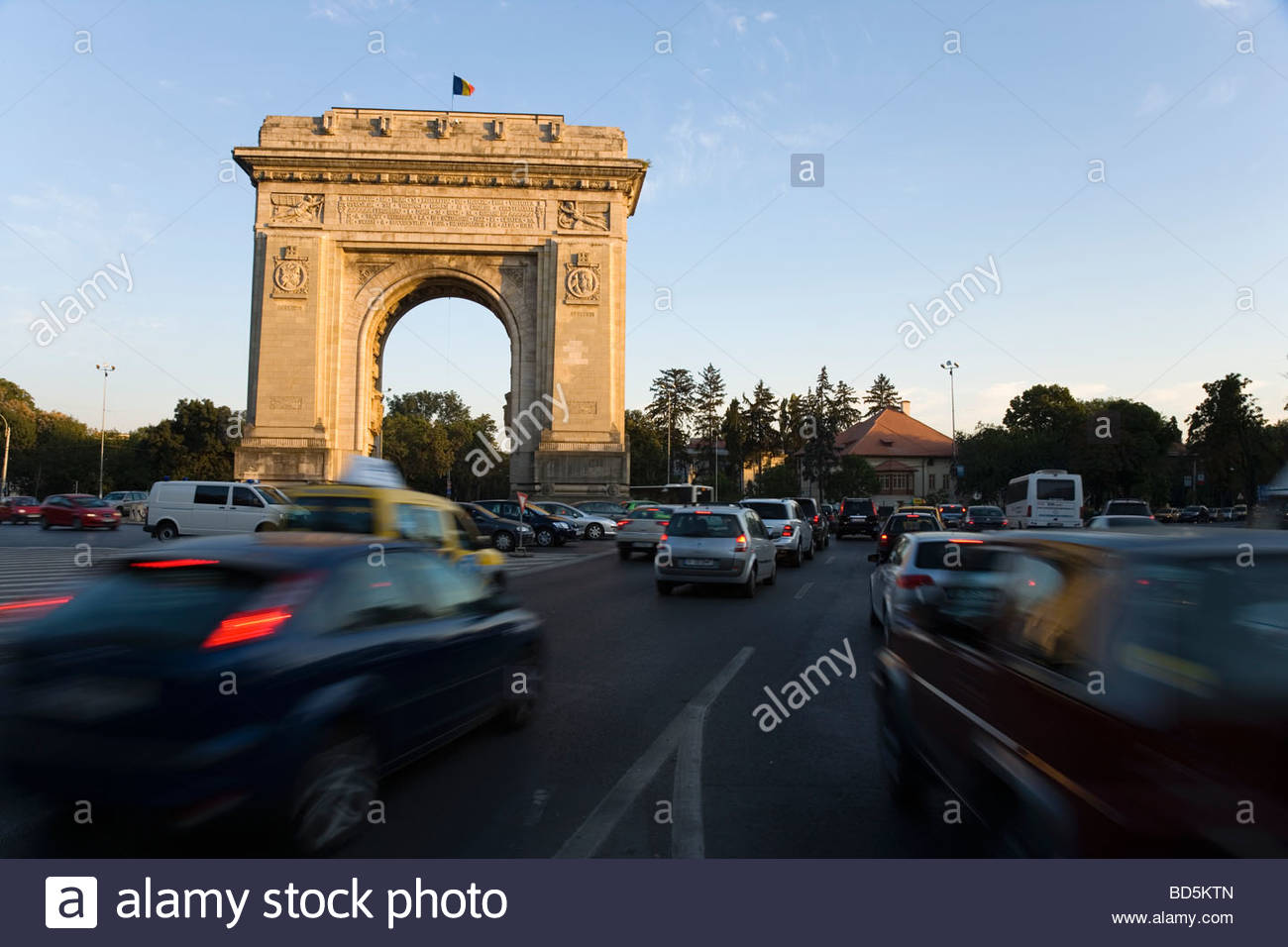 Triumphal Arch built in 1935 Bucharest - Stock Image