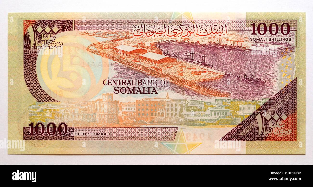Somalia One Thousand 1,000 Shilling Bank Note - Stock Image