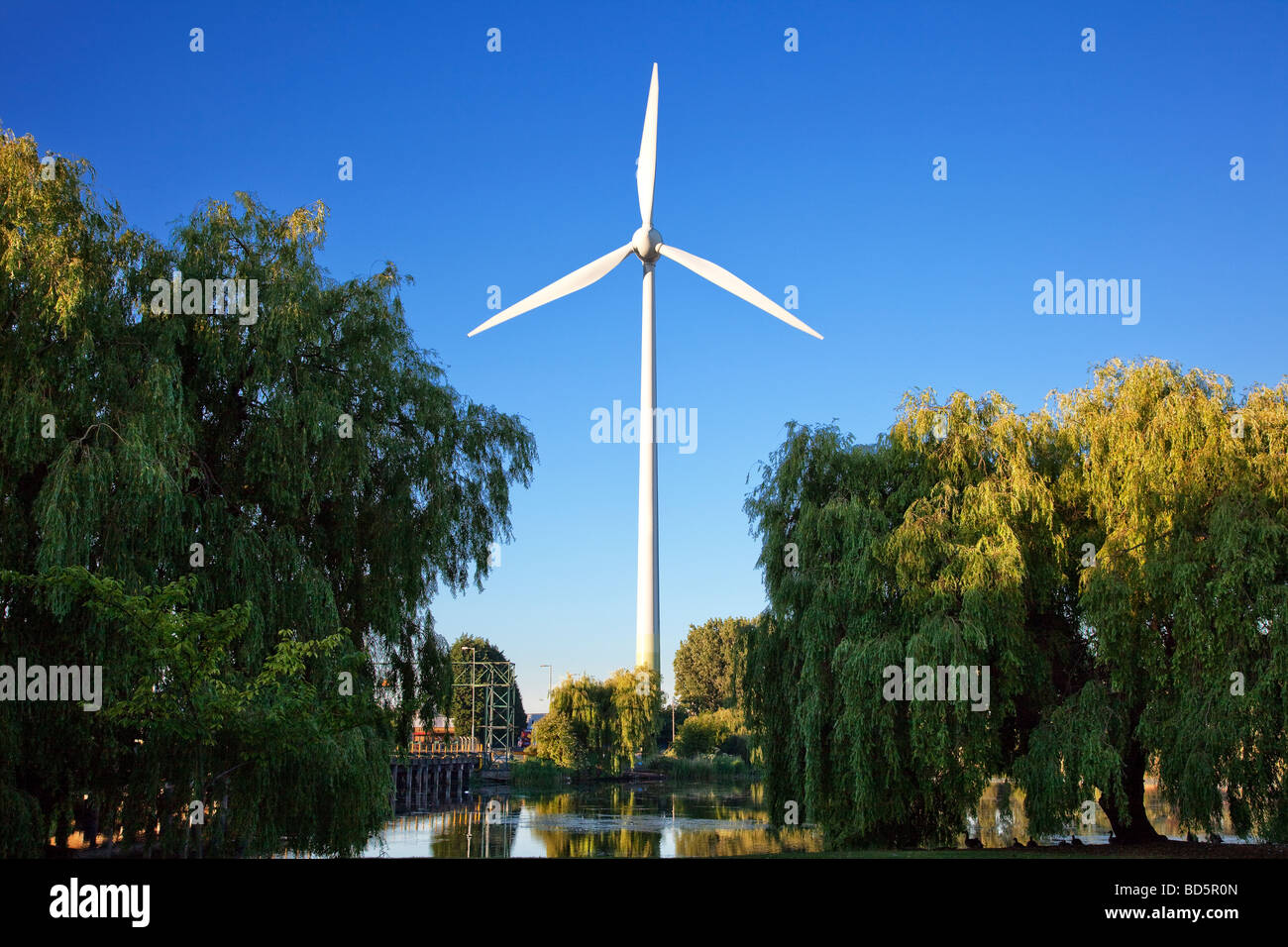 Wind Turbine At Ford Dagenham Plant Stock Photo Alamy