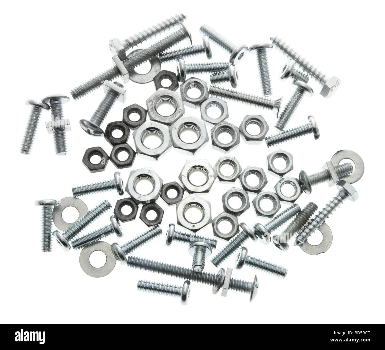 Spanners with Nuts and Bolts - Stock Image