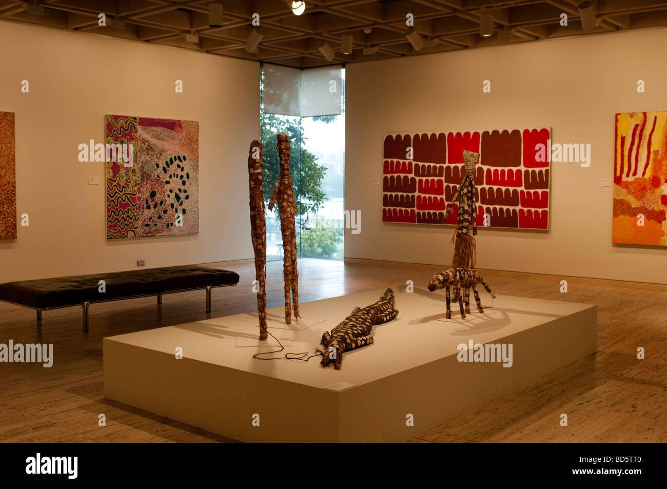 Aboriginal and Torres Strait Islanders gallery in Art Gallery of 'New South Wales' Sydney NSW Australia - Stock Image