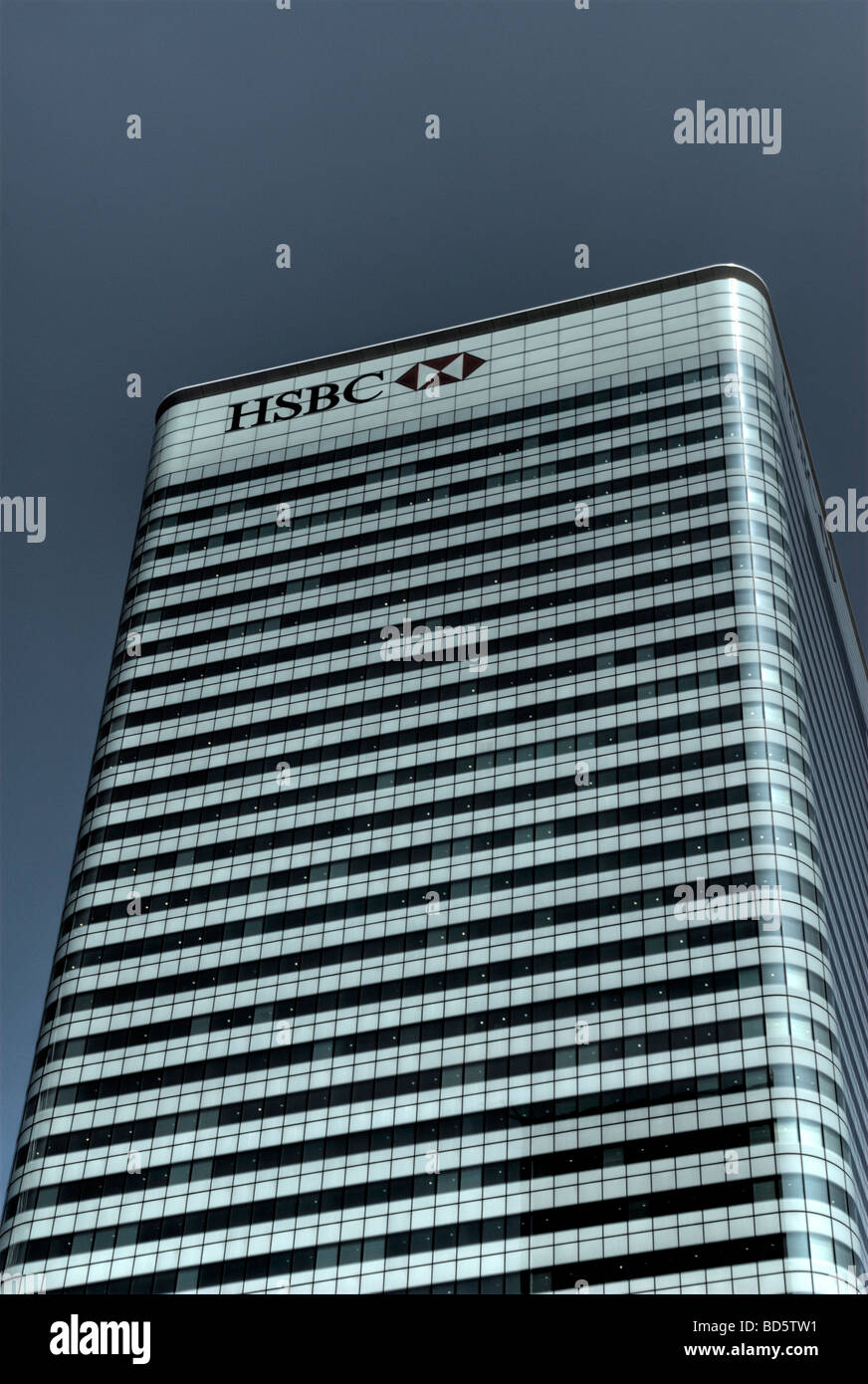 HSBC Tower Group Head Office Canary Wharf Docklands London Britain July 2009 - Stock Image