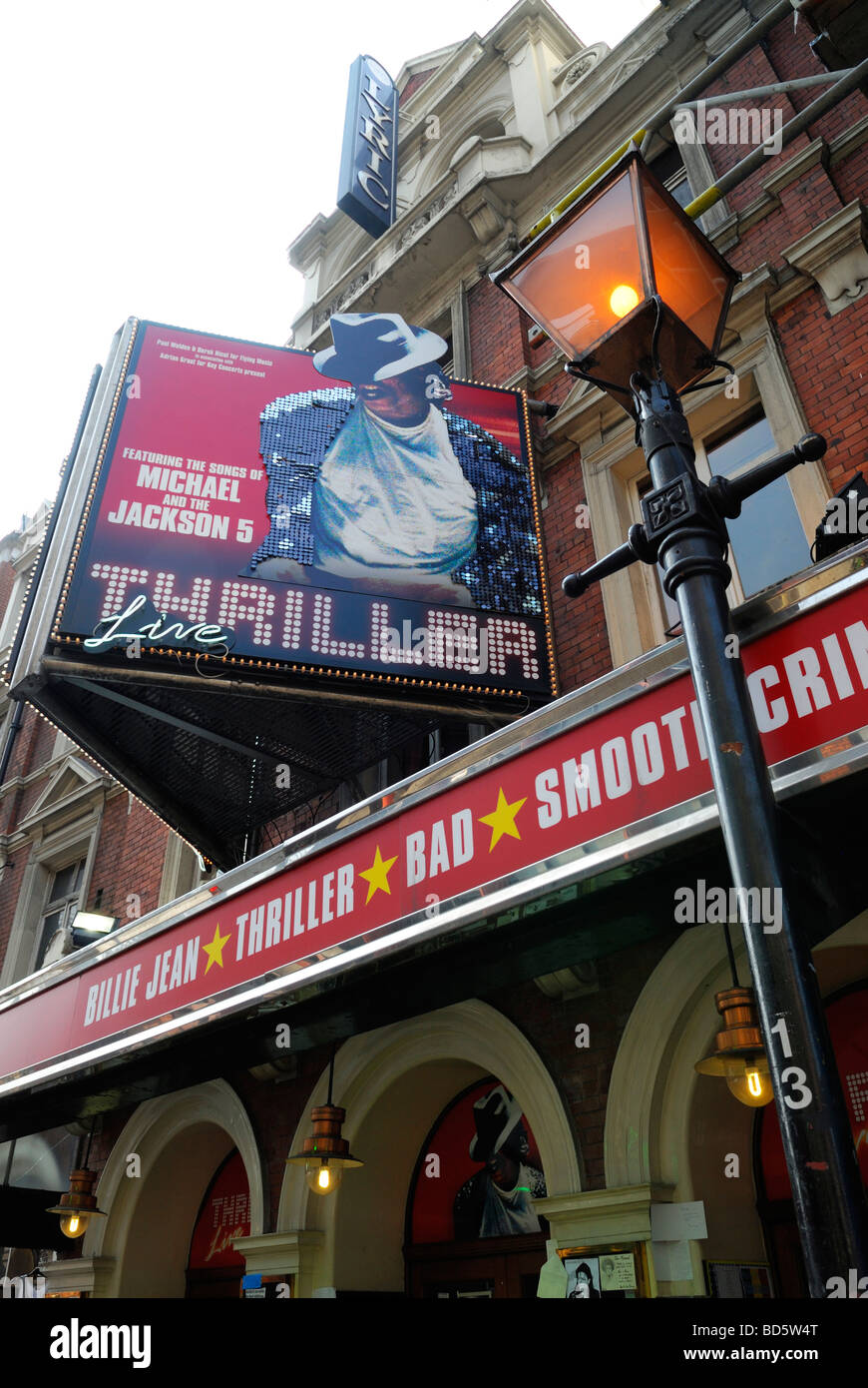 Thriller Live Show in London's Westend, Featuring the Songs of Michael Jackson, Lyric Theatre, London, Britain - Stock Image