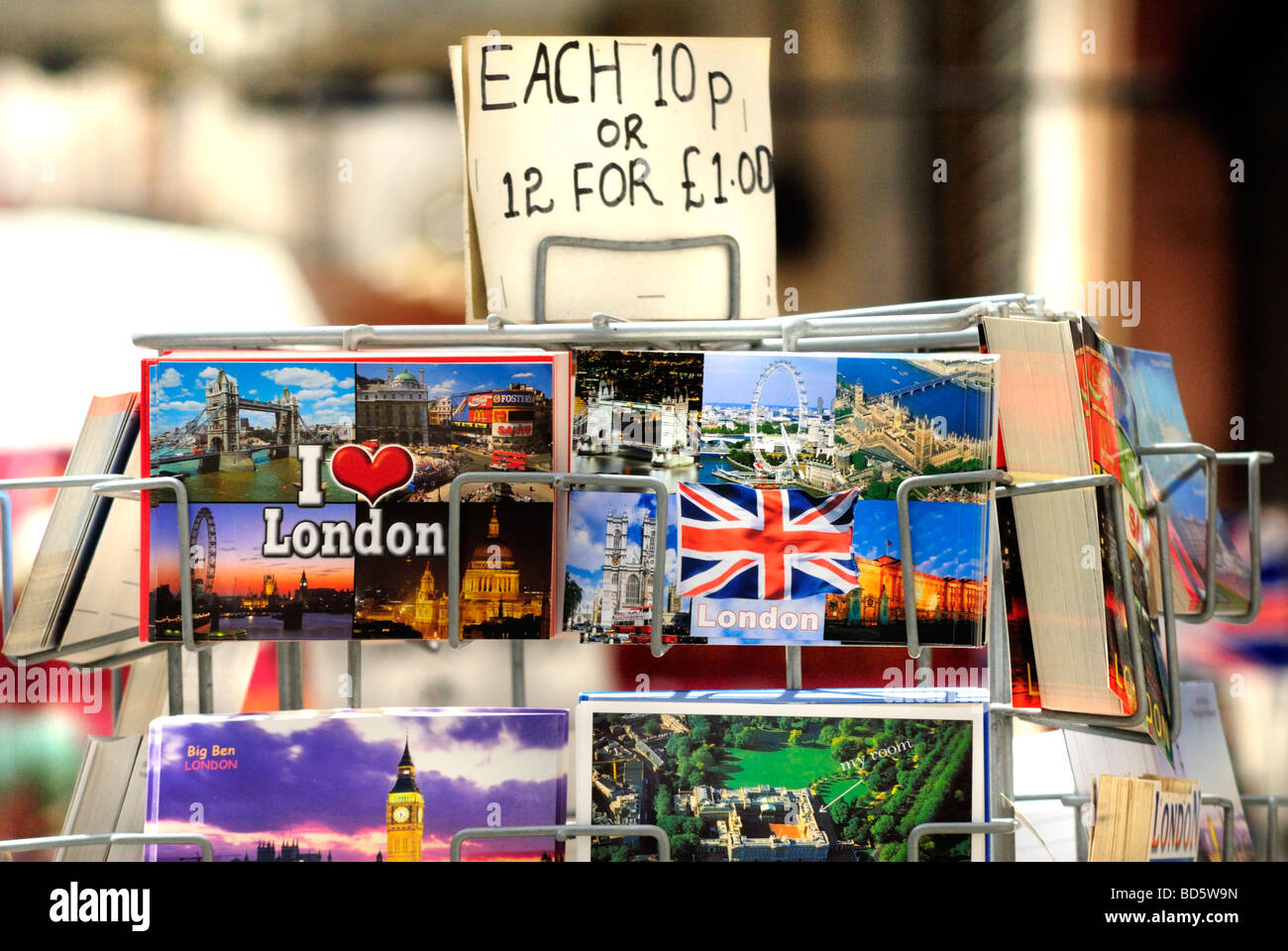 London Postcards for Sale London Britain. Stock Photo