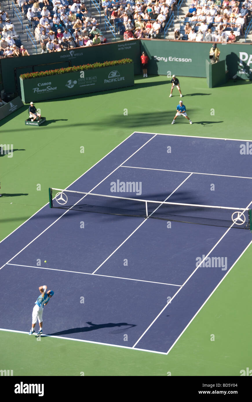 Tennis Tournament at Indian Wells Palm Springs Coachella Valley Southern California - Stock Image