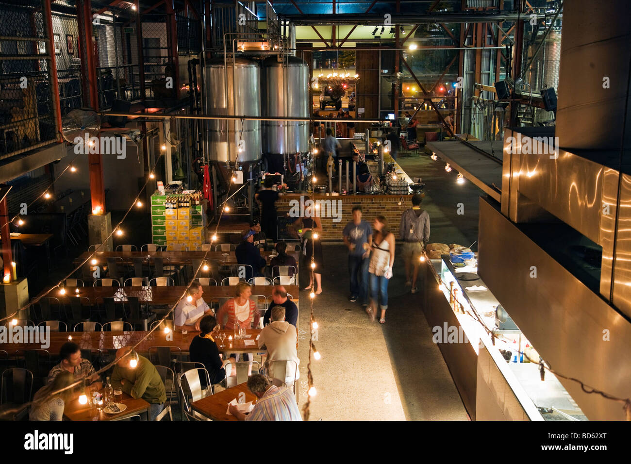 Little Creatures bar restaurant and micro brewery, Fremantle, Perth - Stock Image