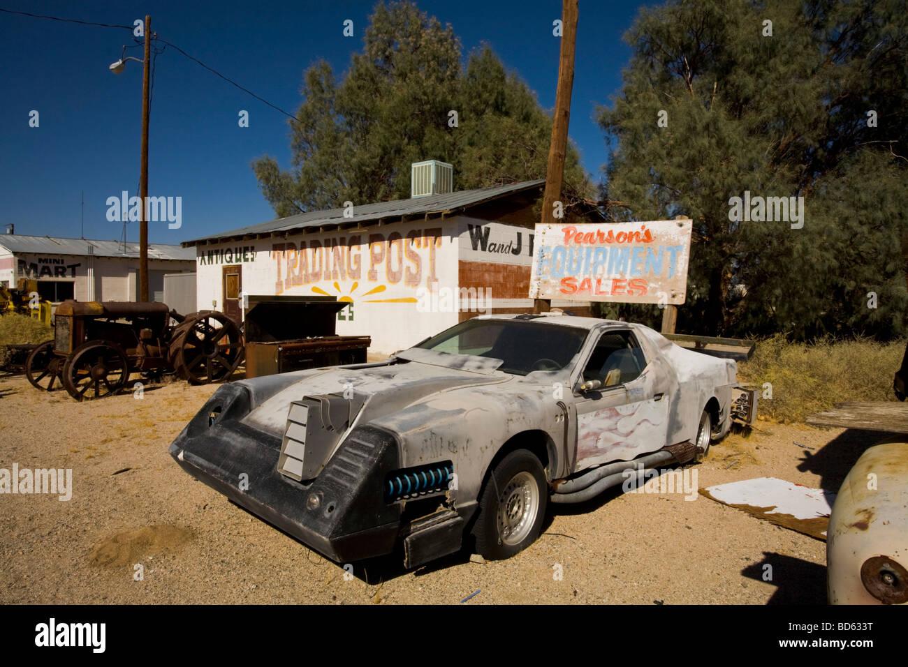 Odd Car at a junk yard in Pearsonville Route 395 Eastern Sierra ...