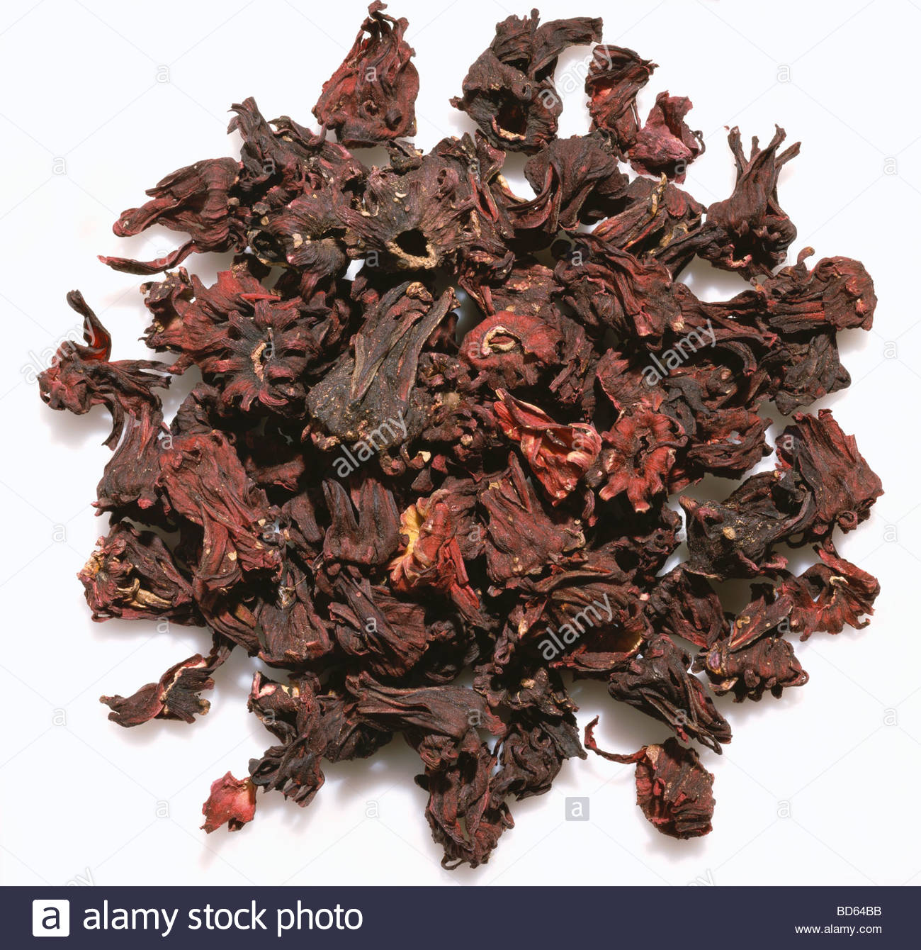 Dried hibiscus flower stock photos dried hibiscus flower stock pile of dried hibiscus on a white background stock image izmirmasajfo