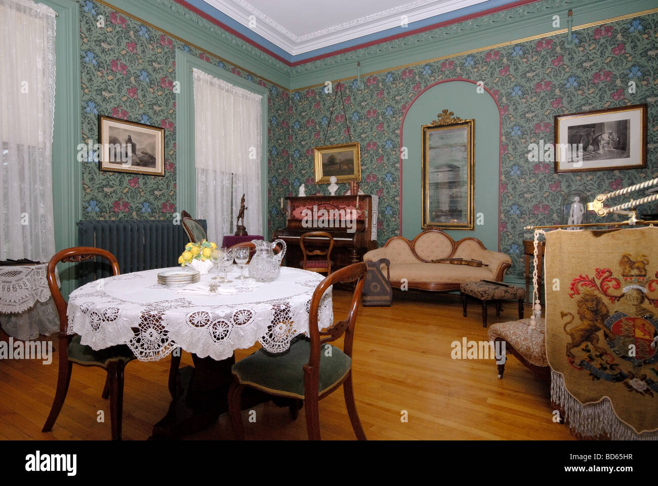 interior view of beaconsfield house charlottetown prince edward