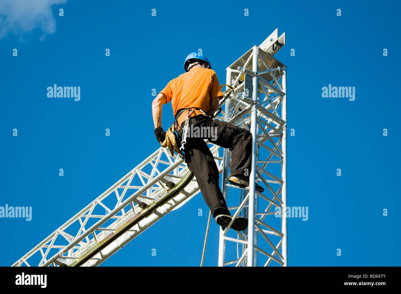 Putting up of a stage - Stock Image