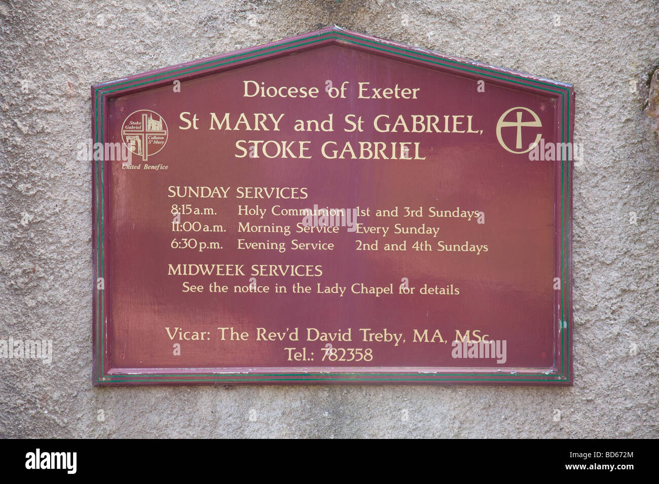 St Mary s church Stoke Gabriel Devon England - Stock Image