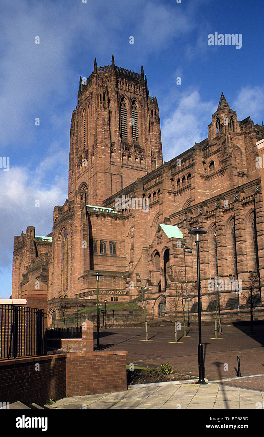 Liverpool Cathedral, view from the south-east - Stock Image