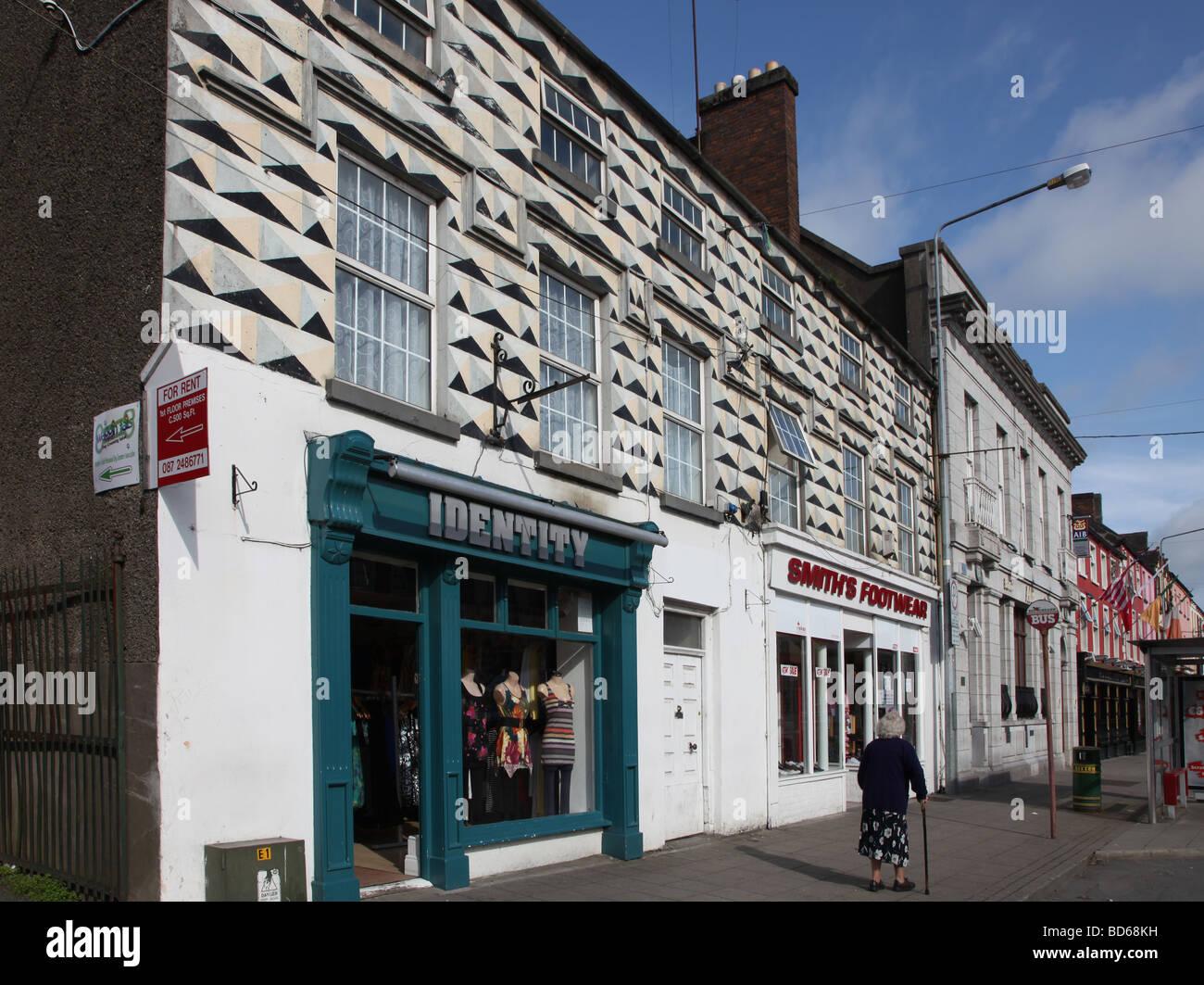 Kitsch trompe l oeil shopfront Carrickmacross Co Monaghan - Stock Image