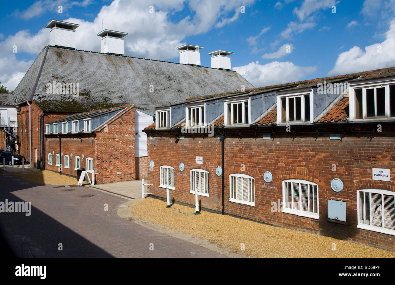 Snape Maltings, Suffolk - the renowned centre for music, first set up by the respected composer Benjamin Britten. - Stock Image