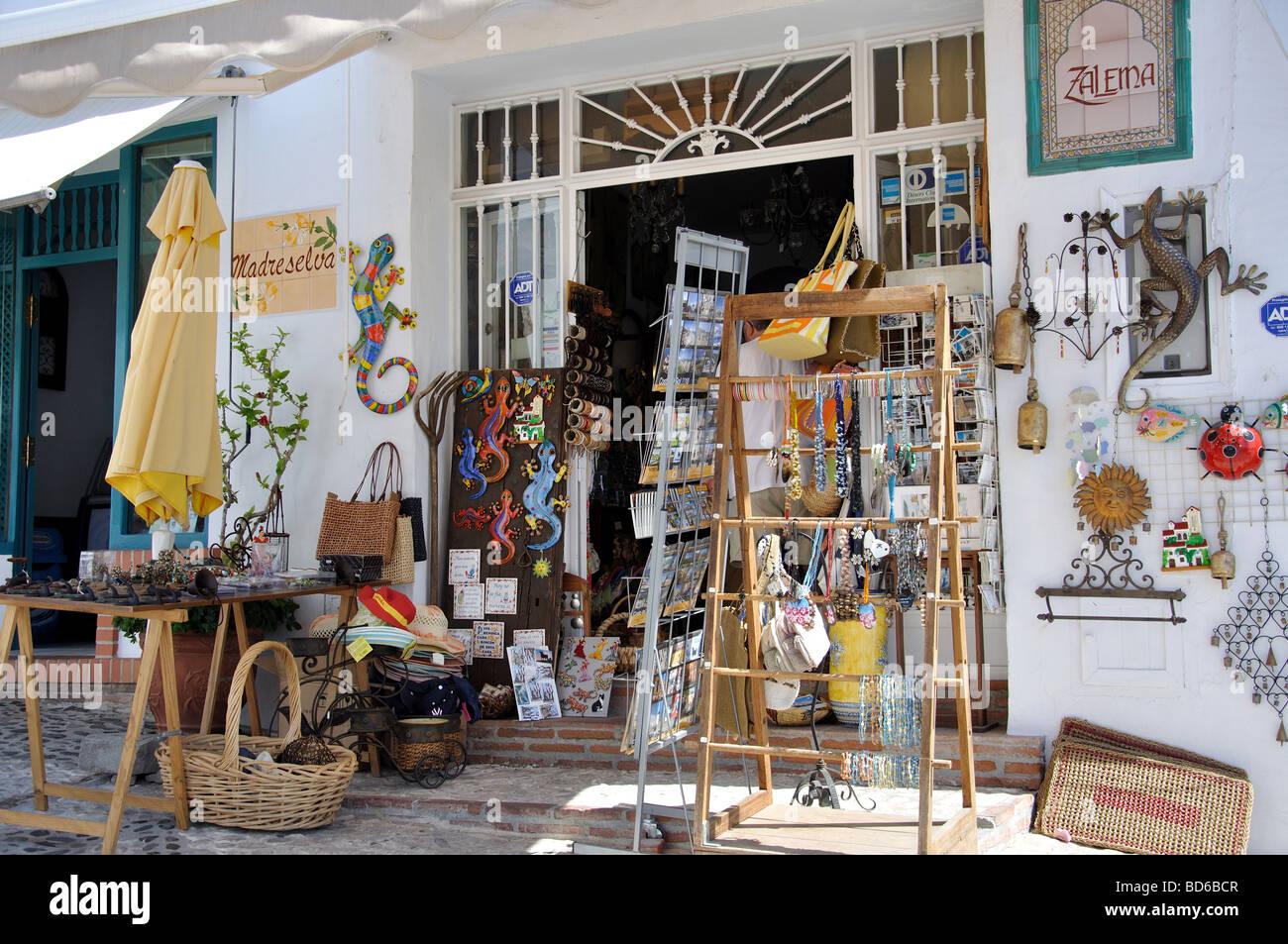 Arts Crafts Shop Frigiliana Costa Del Sol Malaga Province Stock Photo Alamy