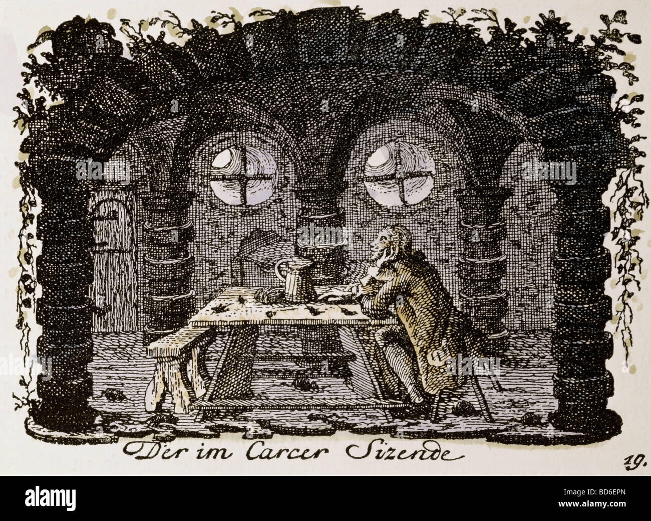 education, students, 'One sitting in the Carcer ' ('Der im Carcer , Artist's Copyright has not to - Stock Image