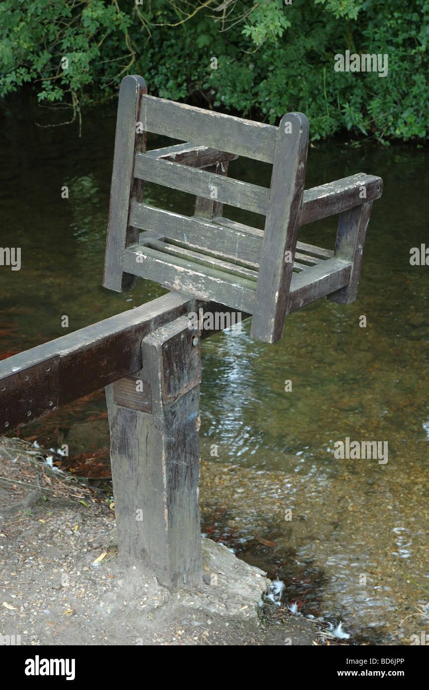 ducking stool, Christchurch, Dorset, England, UK - Stock Image