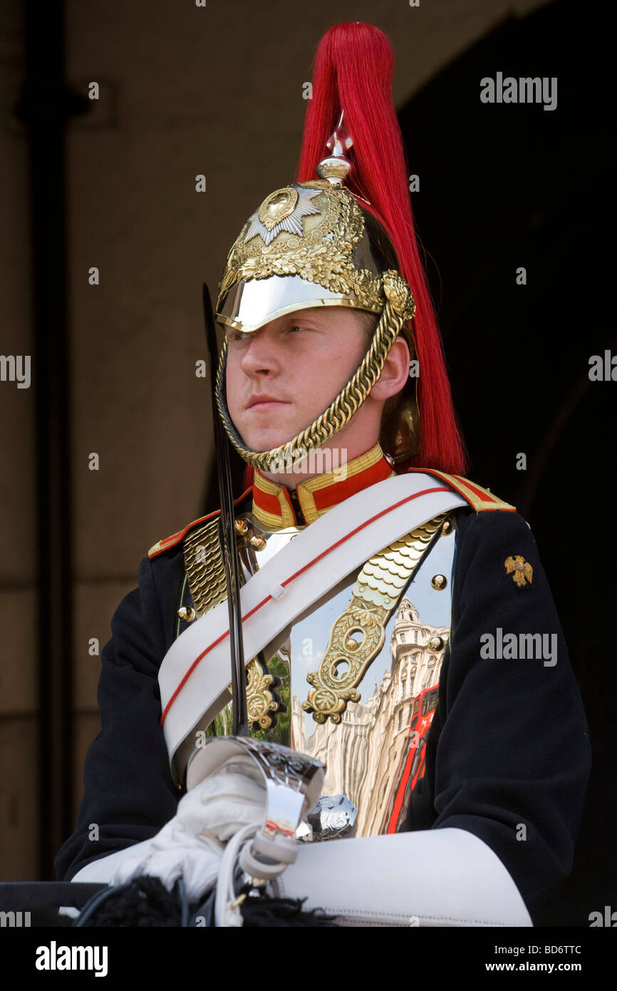 Trooper from the Blues and Royals Household Cavalry Horseguards London England Great Britain Friday July 03 2009 Stock Photo