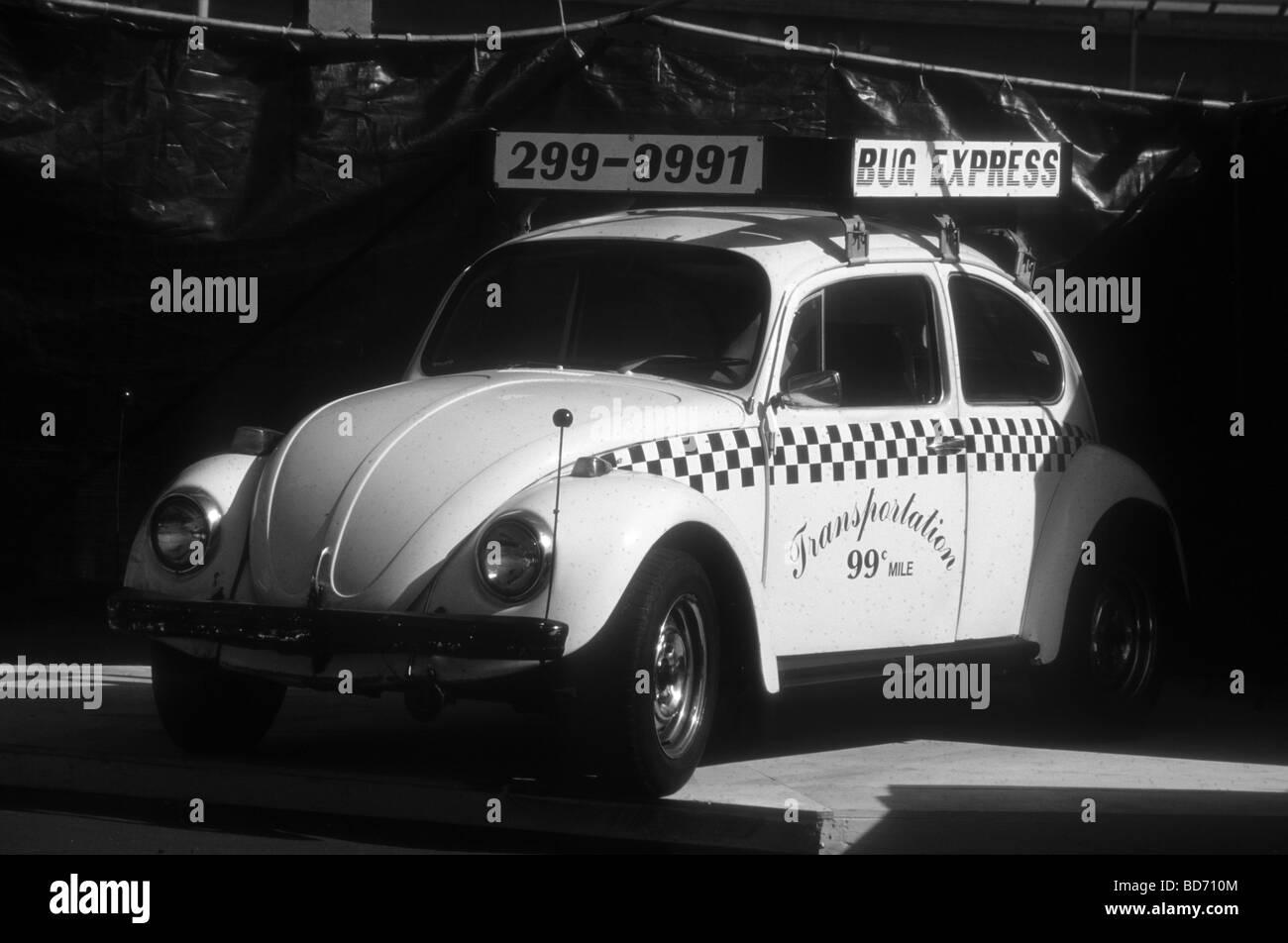 Classic VW Beetle Taxi in California - Stock Image