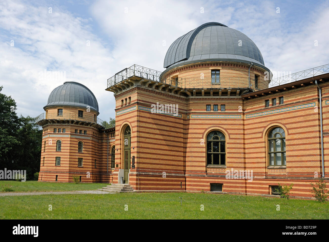 Domed building, Michelson Haus house, Potsdam Institute for Climate Impact Research, PIK, Potsdam, Brandenburg, Stock Photo