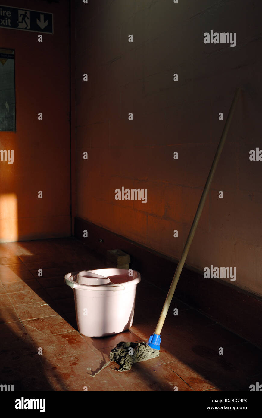 Mop and Bucket - Stock Image
