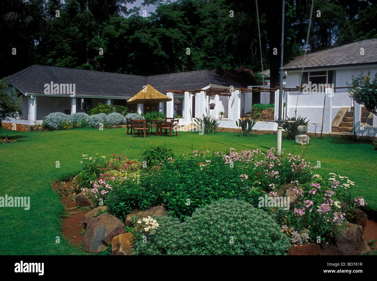 rooms and lodging, accommodations, lodge, museum, Rhodes Nyanga Hotel, former home of Cecil John Rhodes, Nyanga, Stock Photo