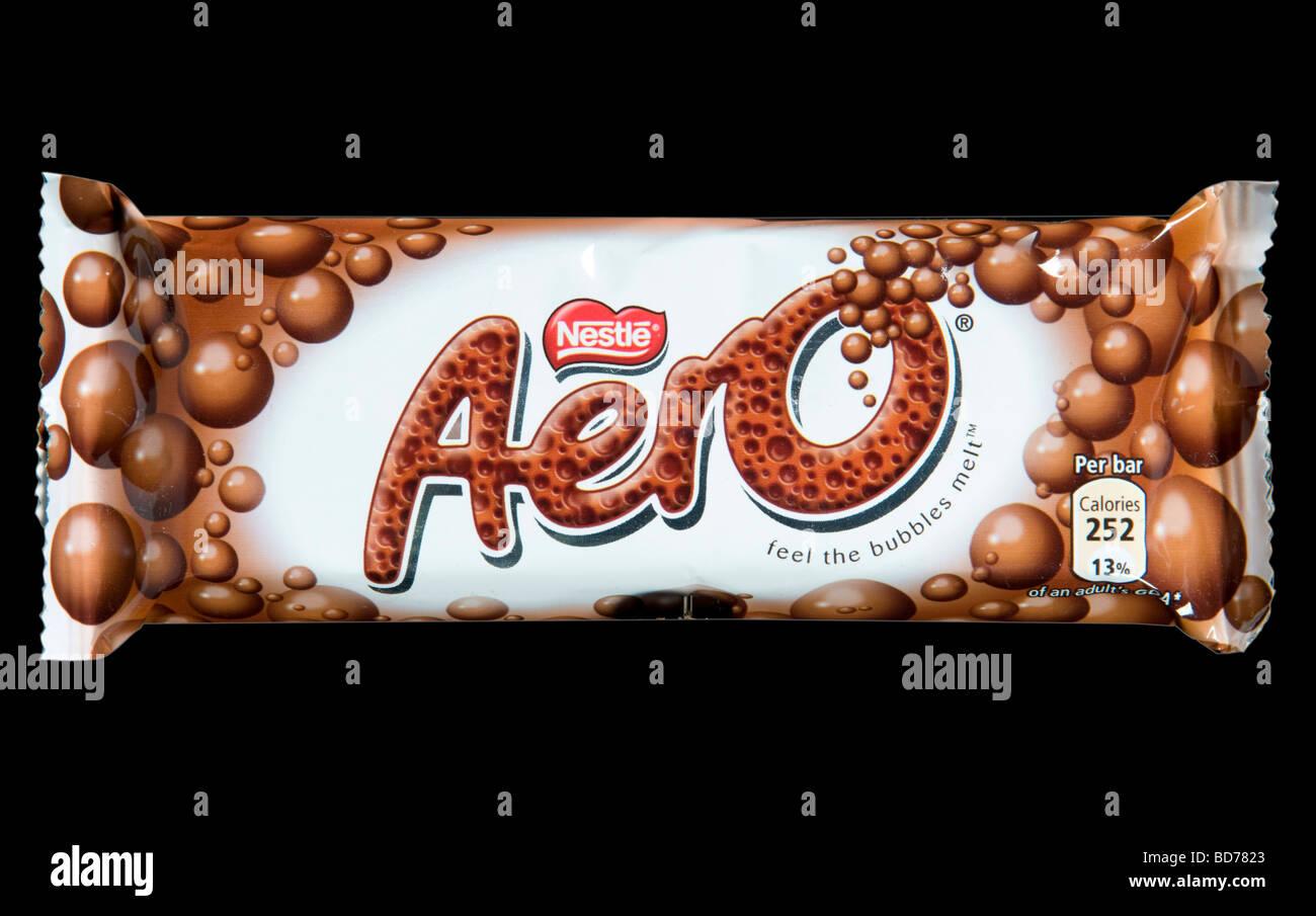 Nestle Aero Chocolate Bar Shot In Studio - Stock Image